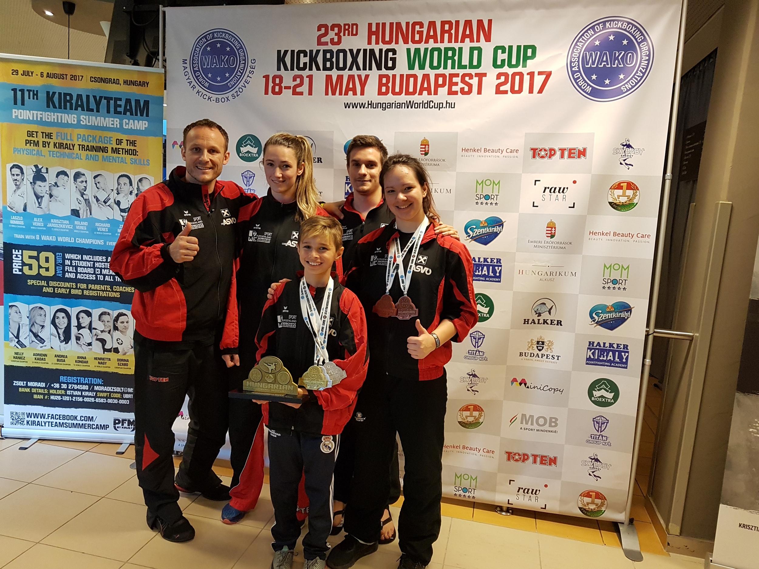 Team ASVÖ Kickbox Club Rohrbach WC Budapest17